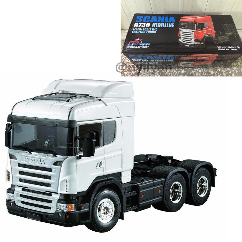 Camion de tracteur de remorque à 2 axes modèle RC de carrosserie Midtop 1 14