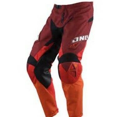 NEW ONE INDUSTRIES CARBON  RED  ATV  MX BMX RACING PANTS  PANT size 38