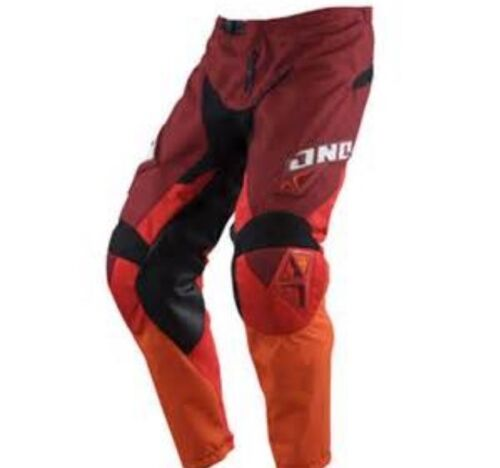 NEW ONE INDUSTRIES CARBON  RED  ATV  MX BMX RACING PANTS  PANT size 34