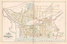 1891 BRISTOL, BUCKS COUNTY, PA  FRIEND'S BURIAL GROUND, COPY PLAT ATLAS MAP