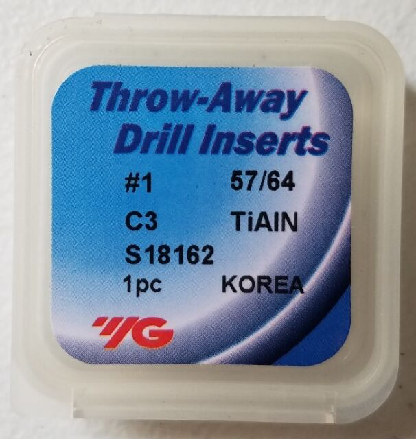 13//16 P40 Spade Drill Insert YG-S26113 Tin Coated Carbide 0.8125