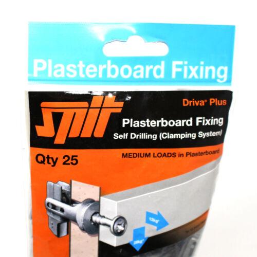 SPIT DRIVA plus plaques de plâtre fixations Self Forage De Serrage Système Pack de 25