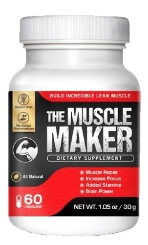 Muscle Maker Testo Boost L Arginine L Valine Glutamine Creatine Bodybuild FOCUS