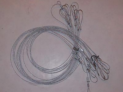 12 Drowner slide cables 12/' long with adjustable loop{traps,trapping,snares sale