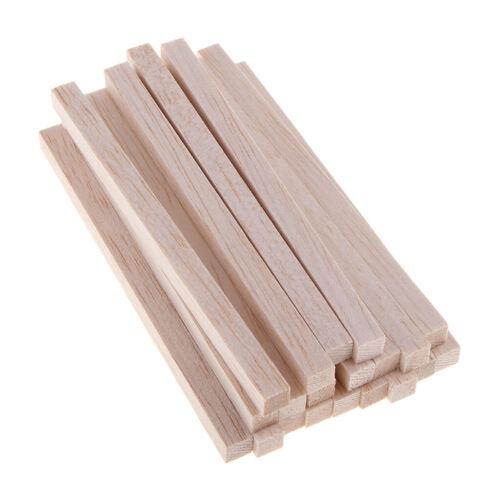 baguette non finie Woodcraft Baguette en bois de balsa carrée