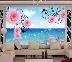 3D Himmel Blüht Meer 602 Tapete Tapeten Mauer Foto Familie Tapete Wandgemälde DE