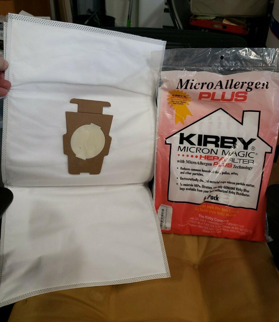 Genuine Kirby 204814G Micro Allergen Plus Cloth HEPA Style Vacuum Cleaner Bags