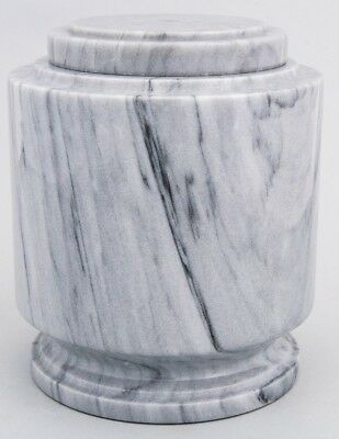 Large/Adult 215 Cubic Inches Gray Estate Natural Marble Urn for Cremation  Ashes | eBay