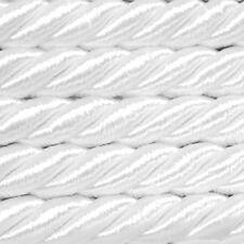 5 m Dekokordel  Ø8 mm Weiß (ab 0,99 €/m) Kordel Schnur Atlaskordel Bastelkordel