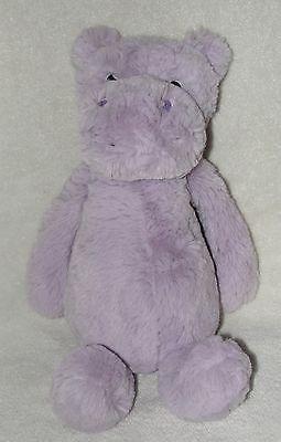 Jellycat Bashful Hippo Plush Purple Hippopotamus Lavender Soft