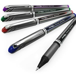 10-x-Pentel-Energel-BL27-Gel-Rollerball-Pens-0-7mm-Tip-5-Colours-Available