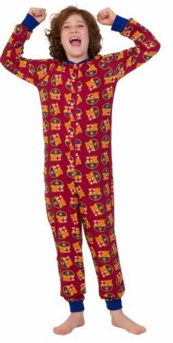Barcelona Football Club Sleep Suit Official Gift Kids Pyjama 7 to 13 Yrs