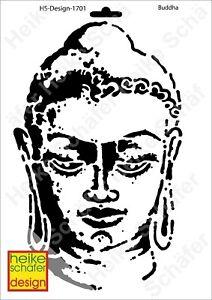 Schablone-Stencil-A4-036-1701-Buddha-Neu-Heike-Schaefer-Design