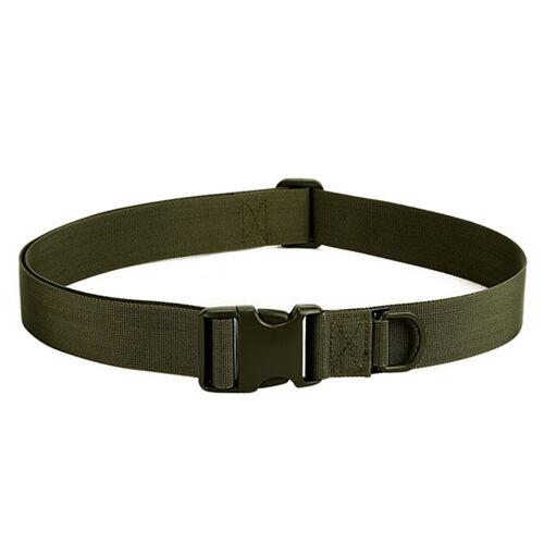 Men/'s Fashion Outdoor Sports Military Tactical Nylon Waistband Canvas Web Belt