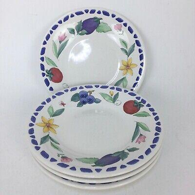 Pfaltzgraff SUMMER GARDEN Salad Plate Floral Flowers Tomato Blueberries