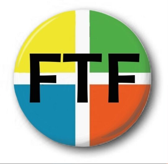 "FTF - 25mm 1"" Button Badge - Novelty Cute Geocaching First to Find"