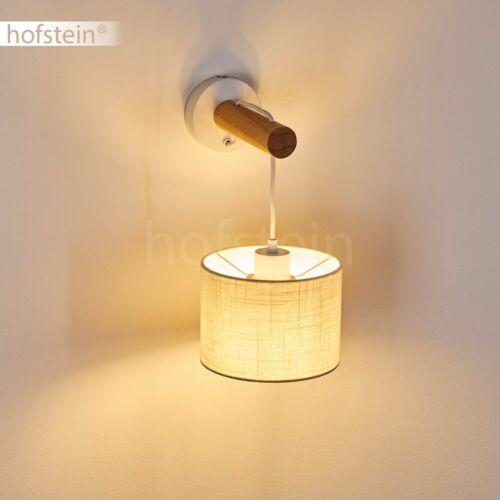Wand Lampen Schalter Wohn Schlaf Zimmer Leuchte Vintage Flur Strahler Holz//Stoff