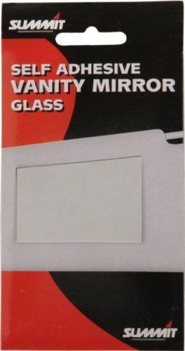 PASSENGER CAR VANITY INTERIOR MIRROR GLASS SELF ADHESIVE SUN VISOR HAIR MAKEUP