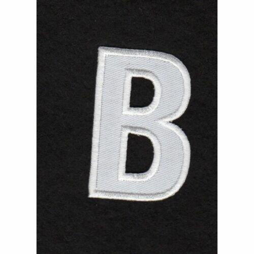 Ecusson thermocollant Alphabet Lettre B Coloris Blanc REF b//2