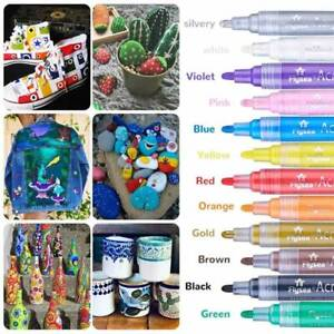 36Pcs-Acrylic-Paint-Marker-art-Pens-Water-Based-Any-Surface-Rock-Glass-Fabric-AU