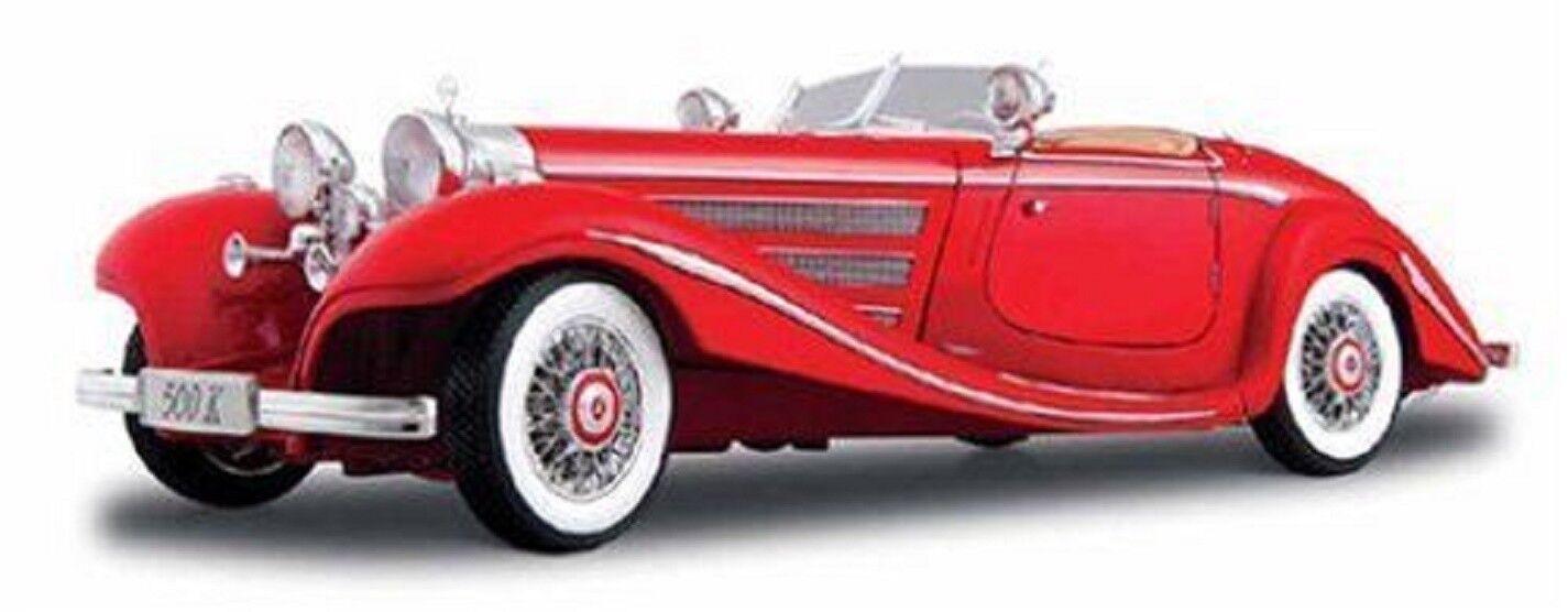 Maisto 1 18 Mercedes Benz 500K särskildroast röd tärningskast modellllerler bil leksak