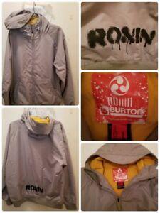 Men-039-s-BURTON-RONIN-Snowboard-Ski-Jacket-Hooded-Size-Large-Spellout-Outdoors