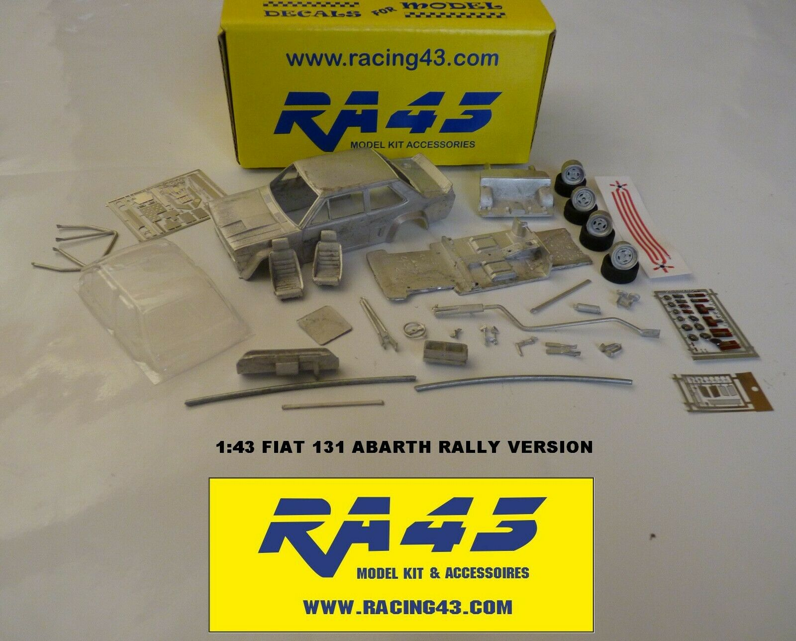 1 43 Fiat 131 Abarth Rally 1000 Laghi 1979 Gronholm Kit