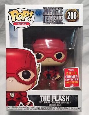 Funko Pop Justice League The Flash Running Transparent 2018 SDCC #208 Vinyl Figu