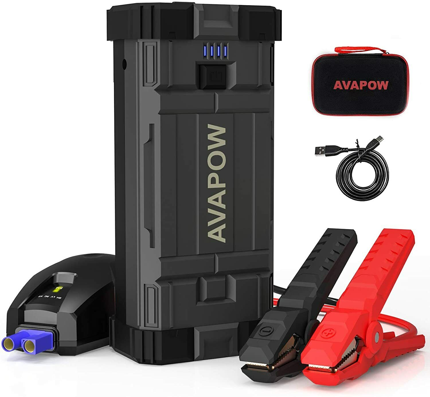 ⚡ AVAPOW Upgraded Car Jump Starter 2000A Peak 18000mAh Battery Charger Sealed