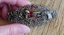 Haarspange Vintage gothic filigran skull vampire drama pistol skeleton victorian