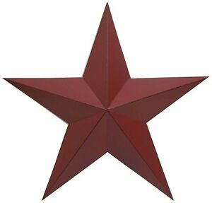 Metal-Country-Burgundy-Antique-Barn-Star-Country-Primitive-Star-Wall-Decor-11-034