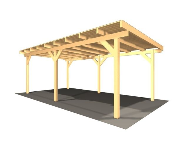 carport doppelcarport kvh auto unterstand holz ebay. Black Bedroom Furniture Sets. Home Design Ideas