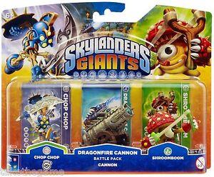 Skylanders-Giants-DRAGONFIRE-CANNON-BATTLE-PACK-with-Chop-Chop-Shroomboom-BNIP