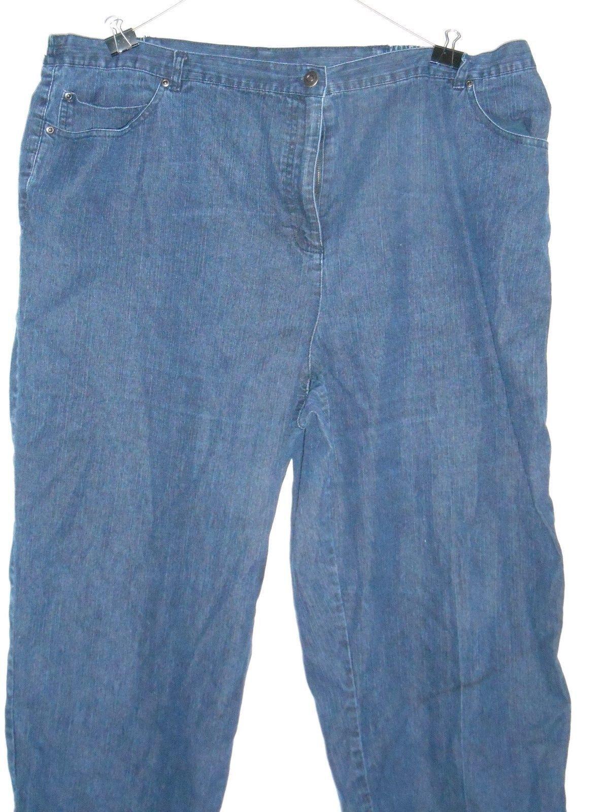 Ruby Rd Denim Jeans Pants Plus Size 24W Elastic Sides