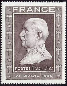 FRANCE-STAMP-TIMBRE-N-606-034-MARECHAL-PETAIN-1F50-3F50-034-NEUF-xx-TTB