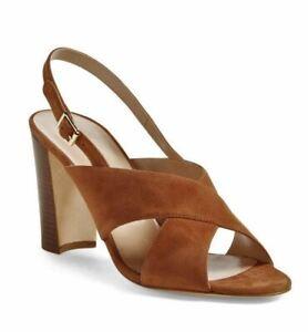 MANOLO-BLAHNIK-39-Nea-Brown-Suede-Slingback-Sandals-8-5