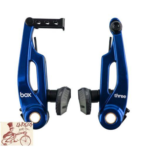 Boîte de trois bleu avant ou arrière vélo linéaire V-Brake