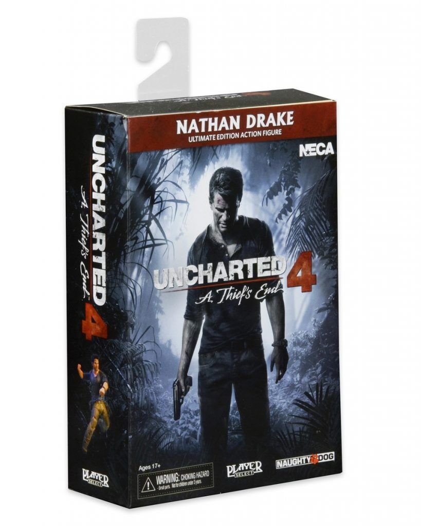 UNCHARTED 4 NATHAN DRAKE ULTIMATE FIGURA 18CM NECA  NUEVA  NEW & SEALED ORIGINAL