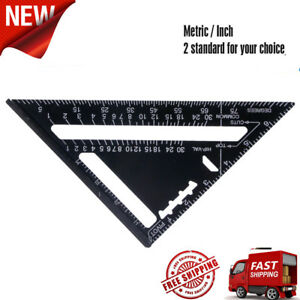 Aluminum-Alloy-Measuring-Square-Speed-7-034-Triangle-Ruler-Protractor-Miter-Framing