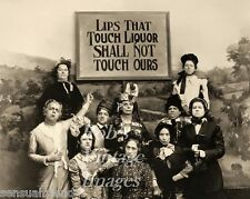 Lips that Touch Liquor Prohibition Temperance photo Old Women's Lib Vintage