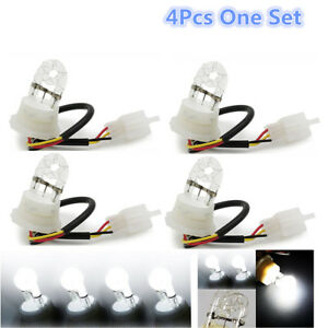 2 Pairs White HID Hide A Way Flash Strobe Spare Replacement Bulbs Tube Light
