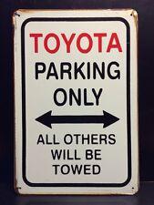 Toyota Parking Metal Sign / Vintage Retro Garage Wall Decor (30 x 20cm)