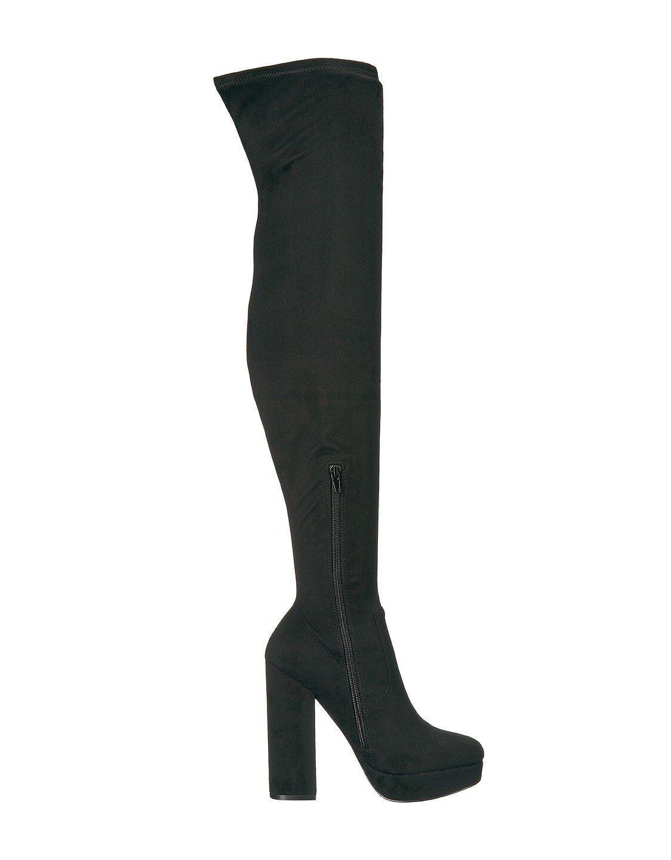 NEW STEVE MADDEN 130 BLACK SOPHIA PLATFORM OVER THE KNEE Stiefel Stiefel KNEE Schuhe SZ 6 cca813