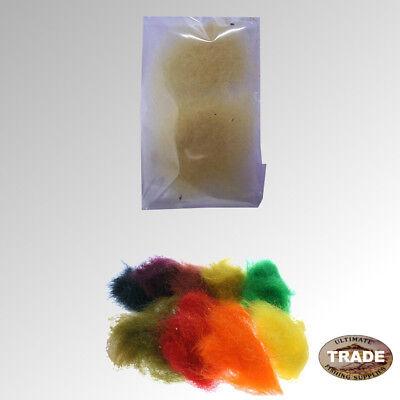 "1 bag /"" SEAL FUR /"" Dyed Salmon Flies BLACK 1gr of Dubbing"