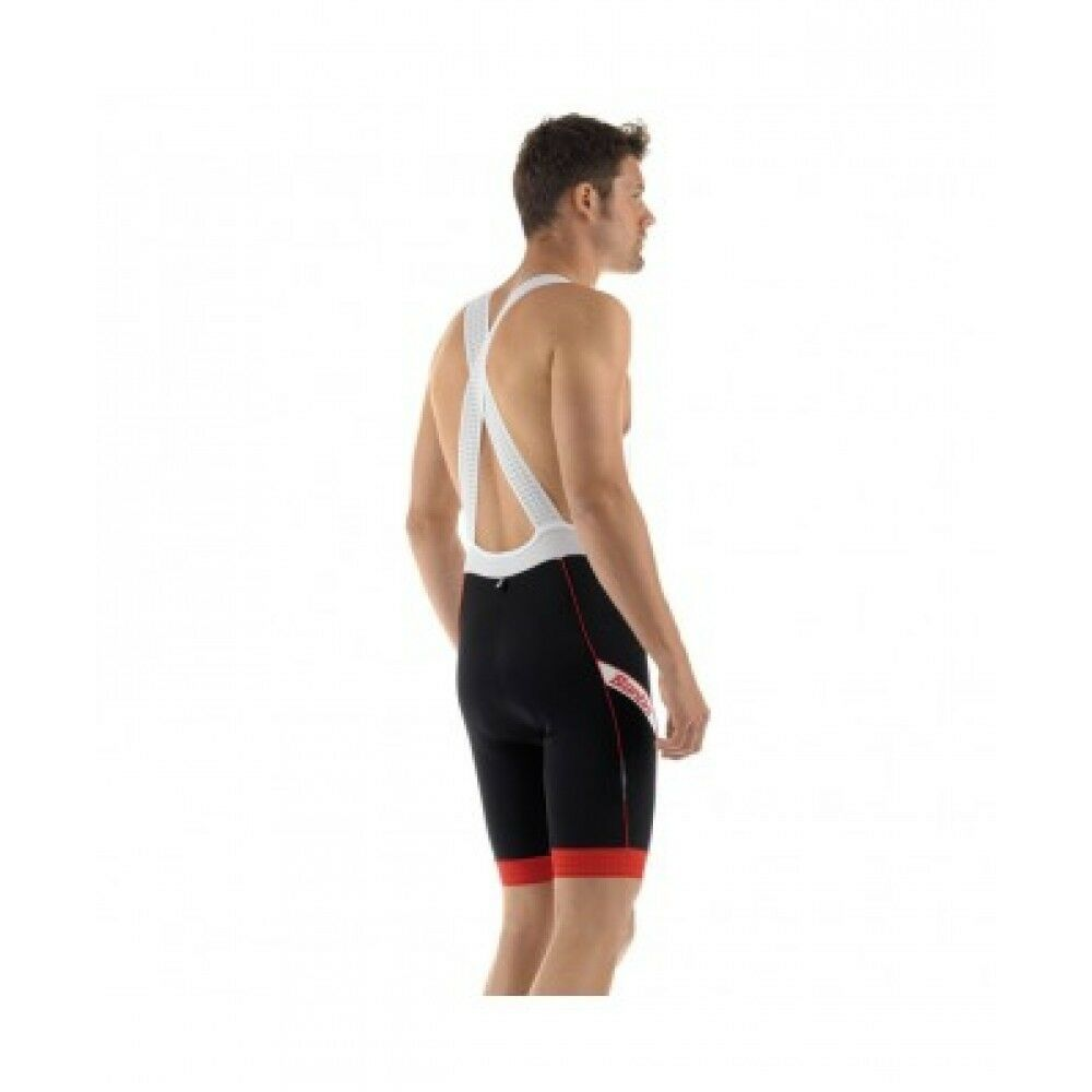 SALOPETTE SANTINI TORA  black-red Size XXXL  clearance up to 70%