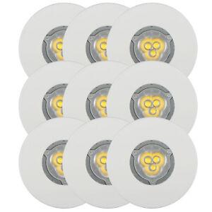 9er-Set-LED-Einbaustrahler-4-4W-Einbauleuchte-Spot-Feuchtraum-IP65-Warmweiss-Weiss