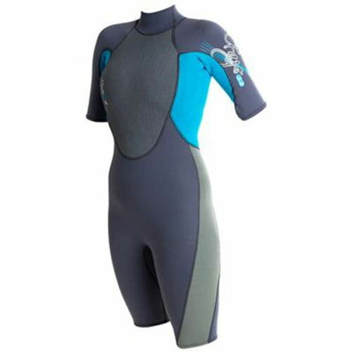 "Ladies size 1416 shorty wetsuit womens chest size 3638"" Girls BlackPINK swim"