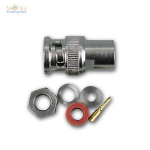 10x-BNC-Stecker-Schraubanschluss-Gold-Pin-fuer-Koax-RG-58-U-Kabel-Steckverbinder