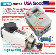 Uscnc Square 22kw Air Cooling Spindle Motor Er20amp Fuling Vfd Inverter Ampcollet