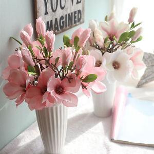 1PC-Artificial-Fake-Flowers-Leaf-Magnolia-Floral-Wedding-Bouquet-Home-Decor-AU